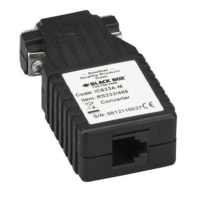 Black Box RS-232 to RS-485, (DB9 M - RJ-11), 115.2 kbps Seriele converter/repeator/isolator - Zwart