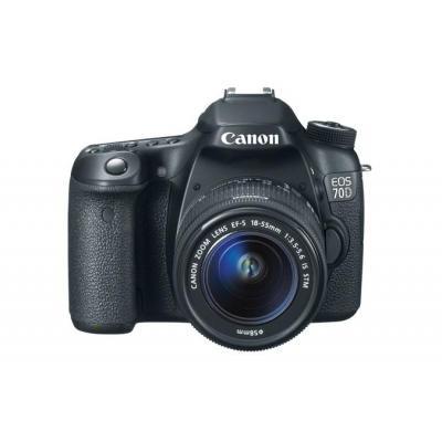 Canon digitale camera: EOS 70D + 18-55(zoomobjectief) STM - Zwart