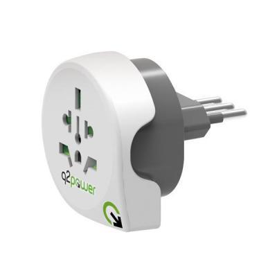 Q2-power 1.100180 Stekker-adapter - Wit