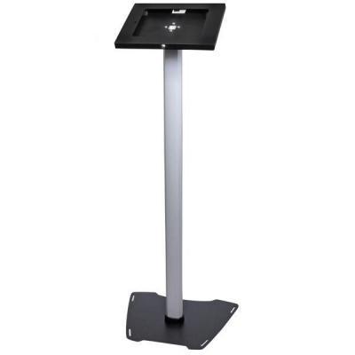Startech.com multimedia kar & stand: Vergrendelbare vloerstandaard voor iPad - Zwart, Zilver