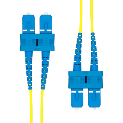 ProXtend SC-SC UPC OS2 Duplex SM Fiber Cable 0.5M Fiber optic kabel - Geel