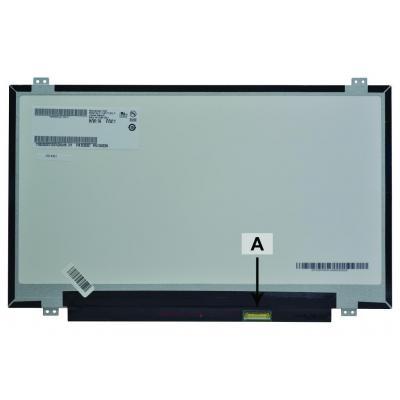 "2-power notebook reserve-onderdeel: 35.56 cm (14 "") , HD+, 1600x900, LCD, 313g - Multi kleuren"
