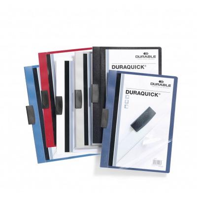 Durable Duraquick Stofklepmap - Zwart