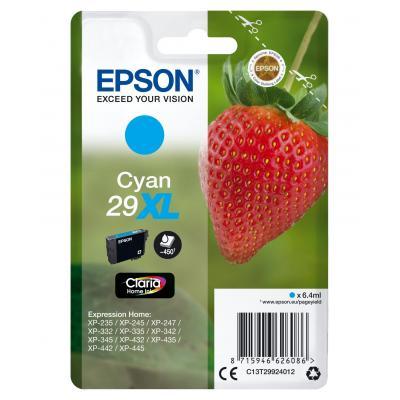 Epson inktcartridge: Singlepack Cyan 29XL Claria Home Ink - Cyaan