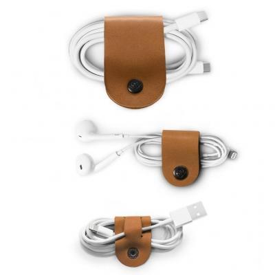 TwelveSouth CableSnap Kabelbinder - Bruin