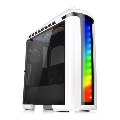 Thermaltake behuizing: Versa C22 RGB Snow Edition - Zwart, Wit