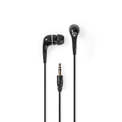 Nedis HPWD1001BK Headset - Zwart, Zilver