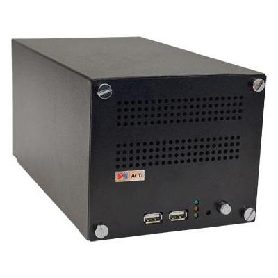 Acti video server: 4 ch, H.264, SATA, max 2 x 4TB, 2 x USB 2.0, 2 x RJ-45, Gigabit Ethernet, HDMI, 1330 g - Zwart