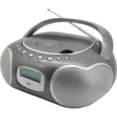 Soundmaster CD-radio: Stereo-PLL-DAB+ radio with CD-MP3, Titan - Titanium