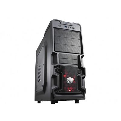 Cooler master behuizing: K 380 - Zwart