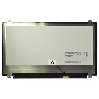 "2-power notebook reserve-onderdeel: 39.624 cm (15.6 "") 1920x1080 Full HD LED Glossy IPS - Wit"