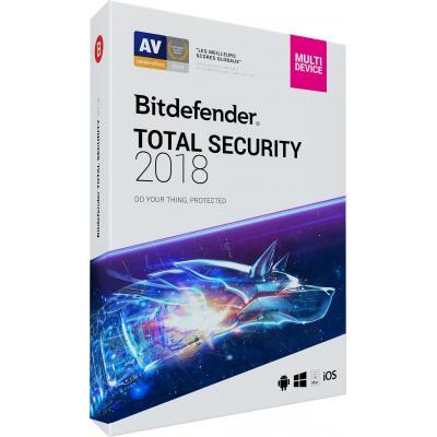Bitdefender firewall software: Total Security 2018 (2 Jaar / 10 Devices)