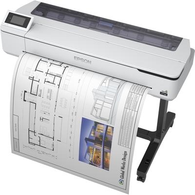 Epson SureColor SC-T5100 - Wireless Printer (with Stand) Grootformaat printer - Zwart,Cyaan,Geel,Magenta
