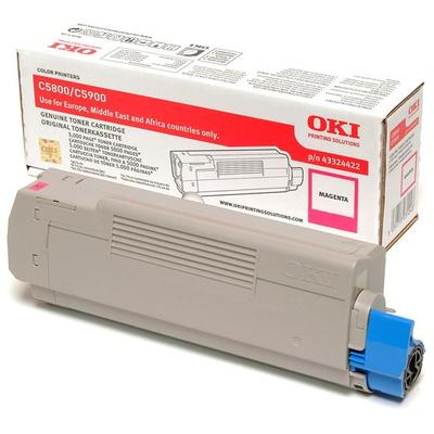 OKI cartridge: Tonercartridge voor C5800/C5900, Magenta