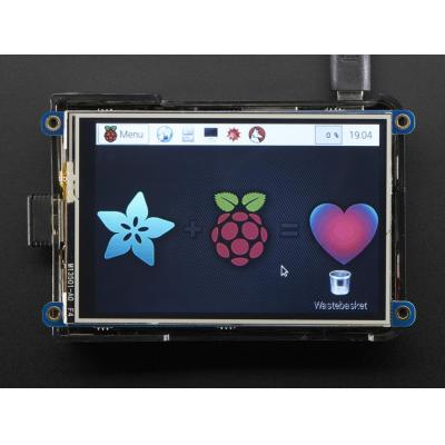 "Adafruit : PiTFT Plus, 480x320 3.5"" TFT, 16-bit, Touchscreen for Raspberry Pi, Pi 2 and Model A+ / B+"
