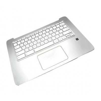 Hp notebook reserve-onderdeel: Top Cover & Keyboard (International) - Zilver, Wit
