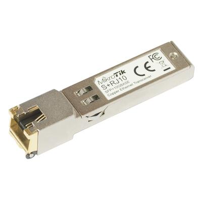 Mikrotik SFP+, 10 Gbps, 10GBASE-T, 2.4 W Netwerk tranceiver module - Metallic