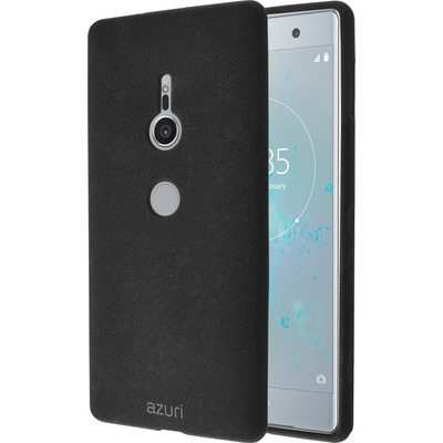 Azuri Flexible cover met zandtextuur- zwart - voor Sony XZ2 Mobile phone case