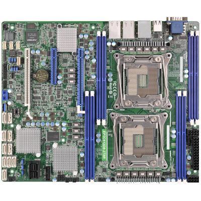 "Asrock server/werkstation moederbord: EP2C612D8-2T8R - ATX 12""x10"", LGA 2011 R3, DDR4 2133/1866/1600 LR DIMM, 10 x ....."