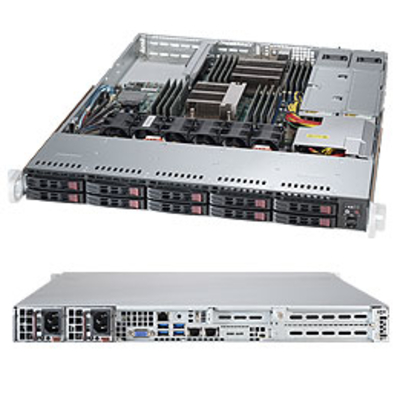 Supermicro SuperServer 1028R-WTR Server barebone - Zwart