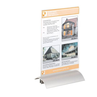 Durable PRESENTER A5 Naambord  - Transparant