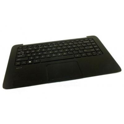 Hp notebook reserve-onderdeel: Top Cover with Keyboard, Black - Zwart