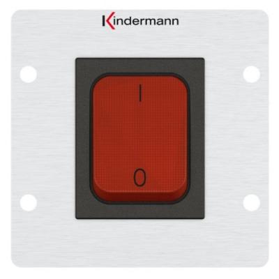 Kindermann 7444000200 Wandcontactdoos - Aluminium, Rood