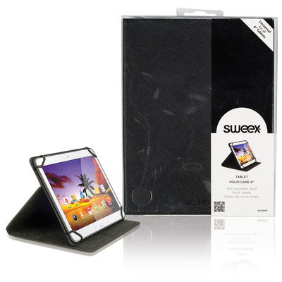 "Sweex Tablet Folio Case 8"" Black Tablet case"