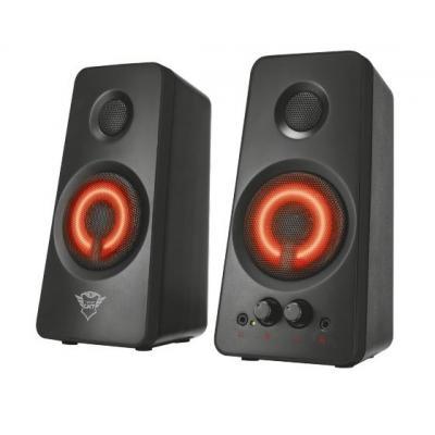 Trust luidspreker set: 36W (18W RMS), LED, 3.5mm, 175 cm - Zwart, Rood