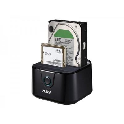Adj HDD/SSD docking station: AH01T - Zwart