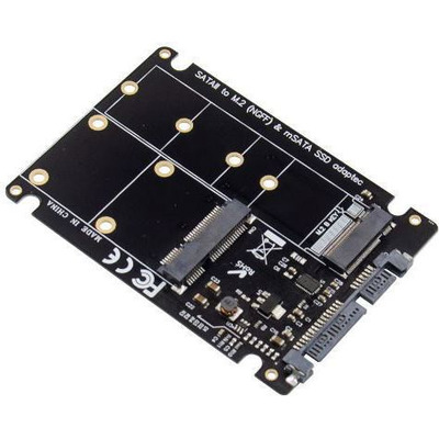"Microconnect 2.5"" SATA to M.2 mSATA Adapter Interfaceadapter - Zwart"