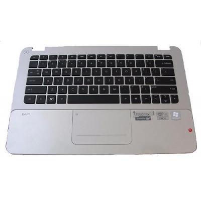 HP Top Case with Keyboard, Silver/Black notebook reserve-onderdeel - Zwart, Zilver