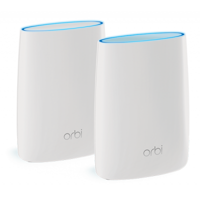 Netgear wireless router: Orbi RBK50 Tri-Band AC3000 Mesh Starter Kit (2-Pack) - Wit
