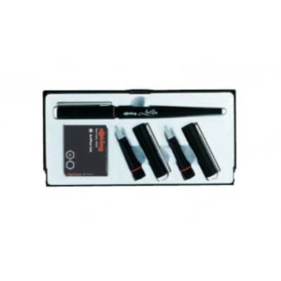Rotring Calligraphy-Set, 1 x ArtPen 1.5 mm, front section 1.9 and 2.3 mm, 6 cartridges, black ink .....