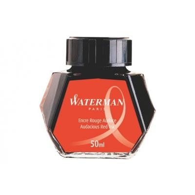 Waterman inkt: Audacious Red Ink for Fountain Pen - Zwart, Transparant