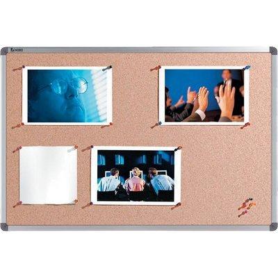 Nobo prikbord: Classic Memobord Kurk 900x600mm - Bruin, Grijs