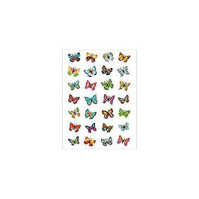 Herma sticker: Decorative label MAGIC butterflies, glittery 1 sheet