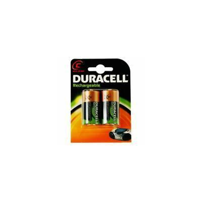 Duracell batterij: Rechargeable C Size 2 Pack - Zwart, Goud