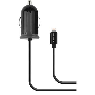 Mobiparts Car Charger Apple Lightning 2.4A Black Oplader - Zwart
