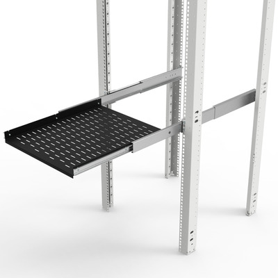 Minkels Telescopic 19-inch shelves, 415 x 500mm, 75 kg Rack toebehoren - Zwart