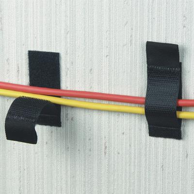 Black Box Hook and Loop Lite Cable Hangers Kabelbinder - Zwart