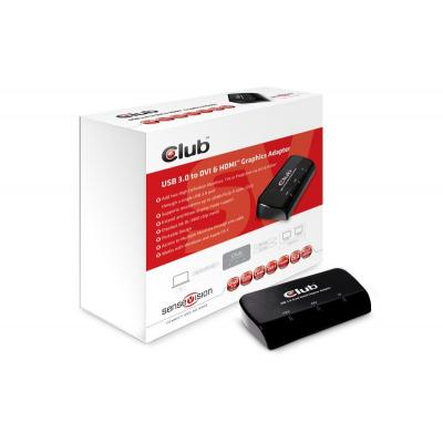 Club3d : SenseVision USB3.0 to DVI-I & HDMI Graphics Adapter - Zwart