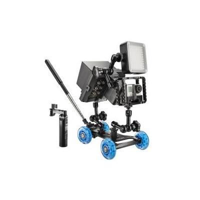Walimex camera-ophangaccessoire: pro Dolly Action Set GoPro III - Aluminium, Zwart, Blauw