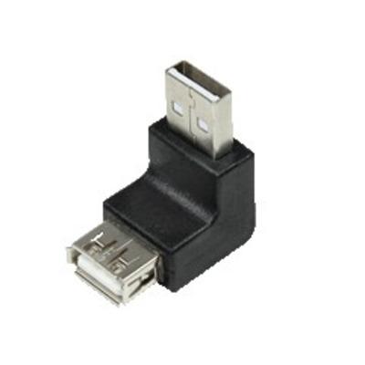 LogiLink USB 2.0 A/A Kabel adapter - Zwart