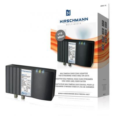 Hirschmann powerline adapter: MOKA 16, Internet over coax adapter - Zwart