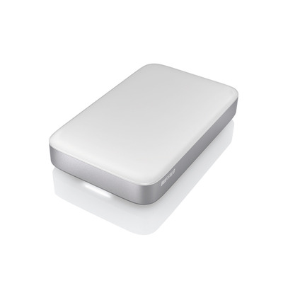 Buffalo externe harde schijf: MiniStation Thunderbolt 1.0TB - Zilver, Wit