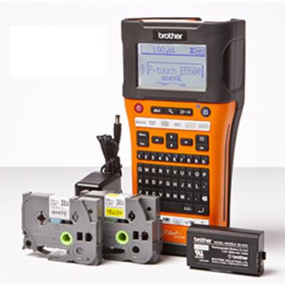 Brother Draagbaar model voor TZe en HSe tapes van 3.5 tot 24 mm - PC-aansluiting - Wireless - 180 dpi - QWERTY .....