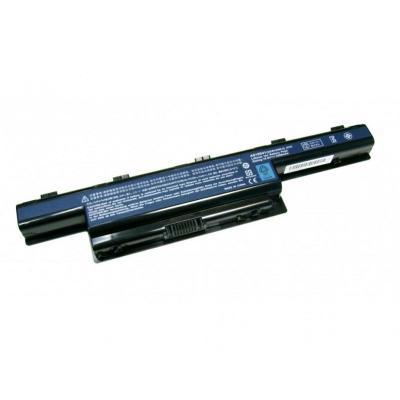 Acer batterij: 6 Cell, Li-Ion, 4400 mAh - Zwart