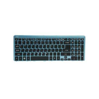 Acer notebook reserve-onderdeel: KEYBD.US-INT.103K.BLK.W/BLUE.FRAME - Zwart, Blauw