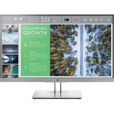 Hp monitor: EliteDisplay E243 - Zwart,Zilver